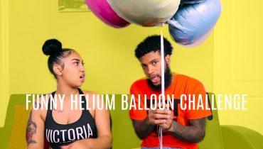 HELIUM  BALLOON CHALLENGE!!! (FUNNY)
