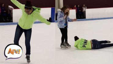 Best Ice Skating Fails | AFV Funniest Videos 2018