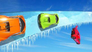 Most DANGEROUS ICE Wallride EVER! (GTA 5 Funny Moments)