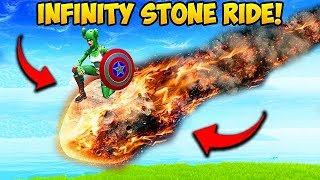*RARE* RIDING A INFINITY STONE METEOR!! – Fortnite Funny Moments! #542