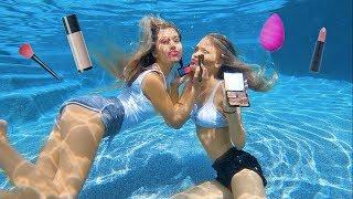 Funniest Underwater Makeup Challenge!